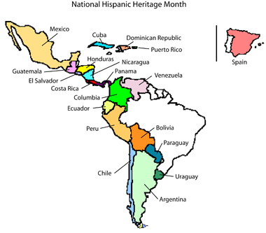 Mrs. Jackson's Class Website Blog: Hispanic Heritage Month Spanish ...