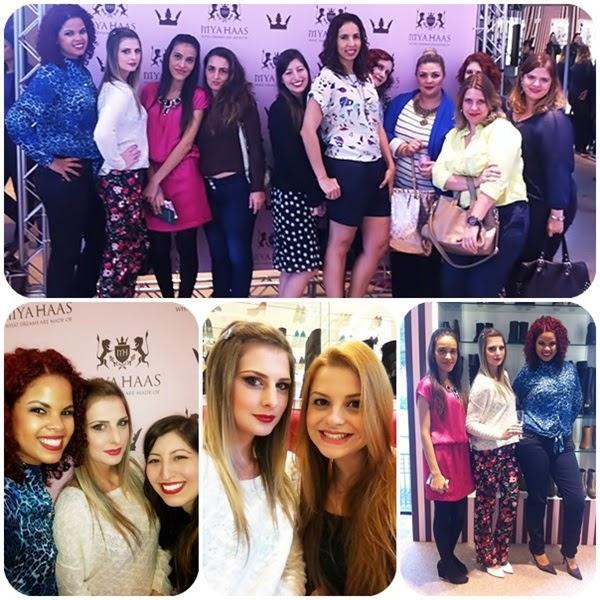 amigas reunidas no evento na loja mya haas