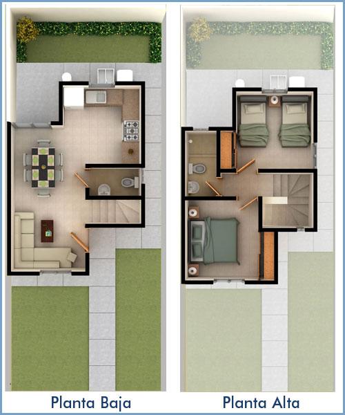 Planos de casas y plantas arquitect nicas de casas y Departamentos de dos pisos