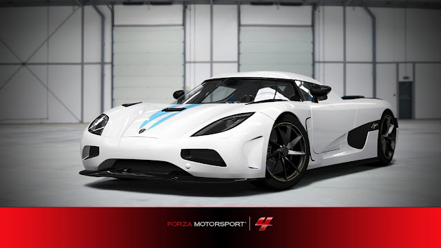 White Koenigsegg in Forza Motorsport 4