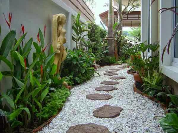 Contoh Landscape Taman Samping Rumah Minimalis
