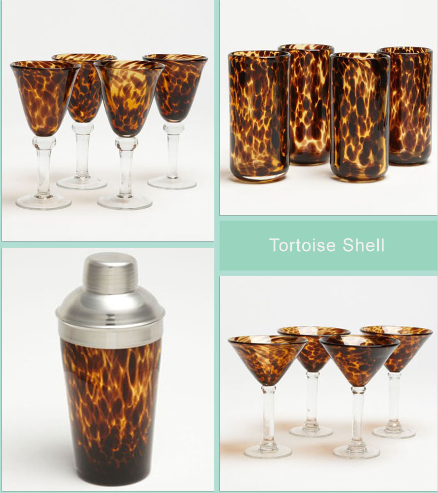 A Touch Of Southern Grace Tortoiseshell Glassware