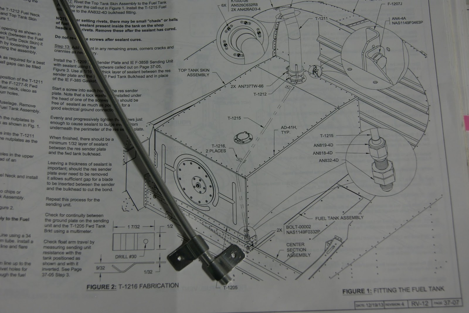 Dog Aviation Johns Rv 12 Blog Work On Fuel Tank And Canopy Schematic Diagram The Completed T 1216 Clips Aluminum Line Great Fit
