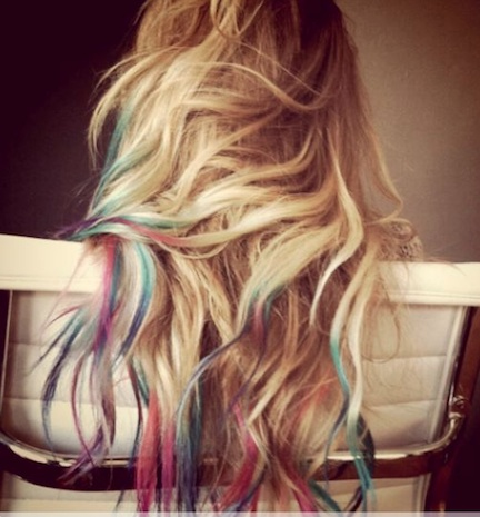 tie dyed hair colour huney