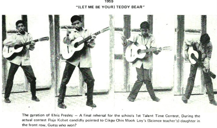 "An Elvis Presley's Avid Fan ~~ photo re-plucked from the ""OLD CLIFFORDIAN"" Annual Magazine"