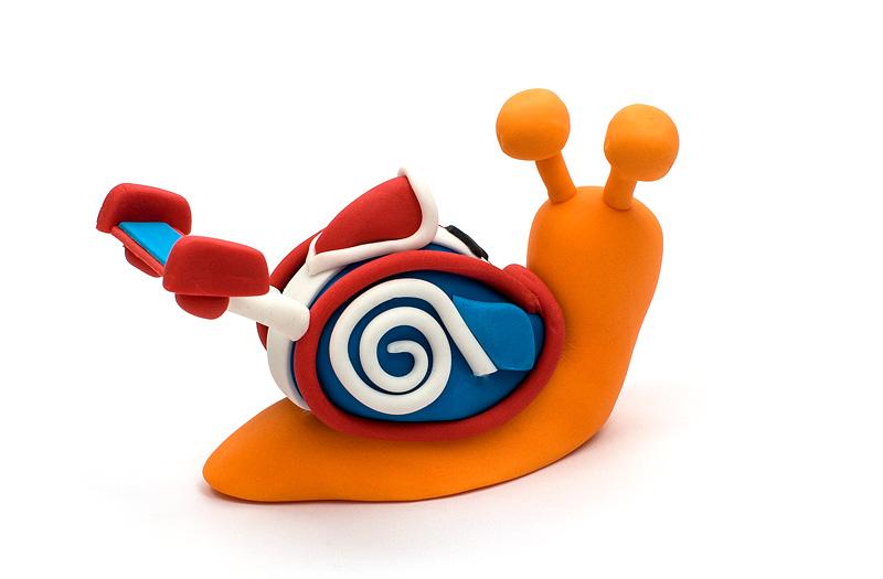 Turbo fondant figurines side