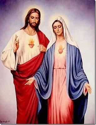 Jesus y maria para imprimir