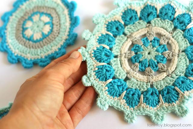 Handmade crochet mandala