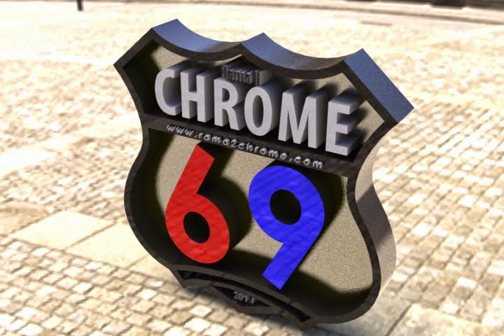 "3D Logo "" Rama2Chrome 69 """
