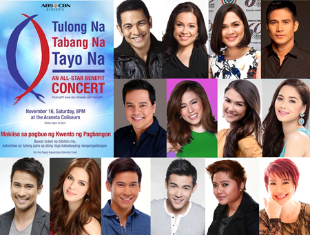 ABS-CBN Mounts All-Star Benefit Concert for Earthquake and Yolanda Victims