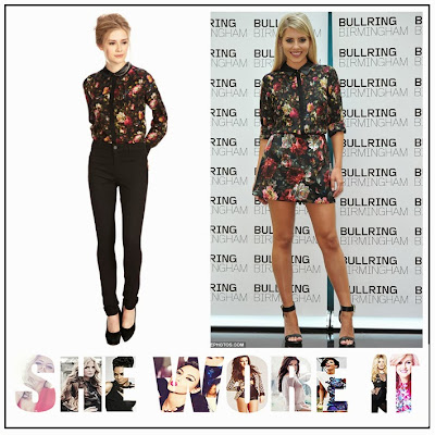 The Saturday's, Mollie King, Oasis, Silk, Winter, Rose, Floral, Floral Print, Printed,  Button Up, Shirt, Matching, A-Line, Skirt, Co-ordinate Set