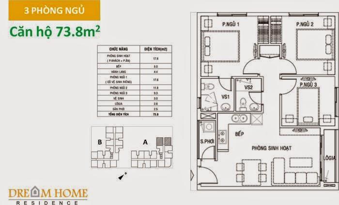 Diện tích Dream Home Residence