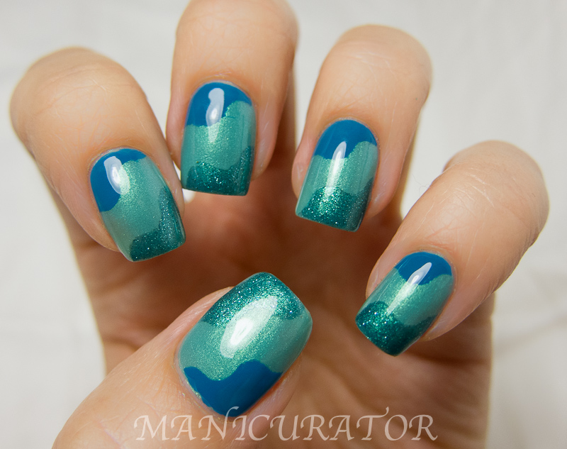 Manicurator Waves Nail Art With Tutorial