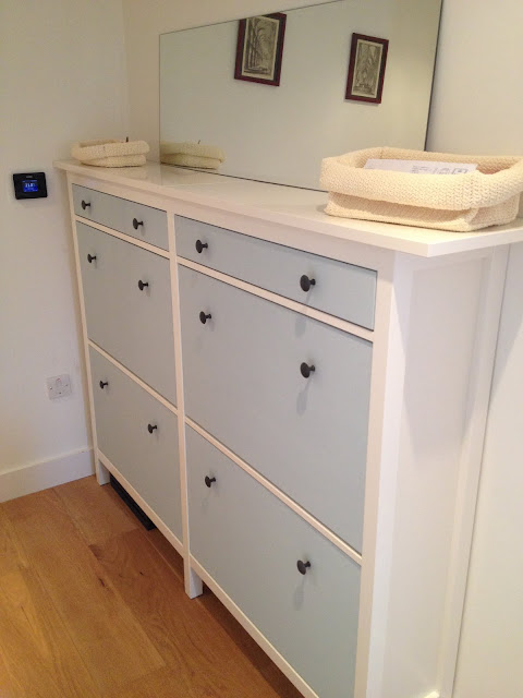 Wedded hemnes shoe cabinets twined and painted ikea for Ikea shoe cabinet hack