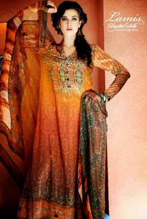 Latest Gul Ahmed Silk Collection 2014