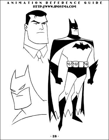 Batman Animated Series Design Art on animated dancing cartoon characters