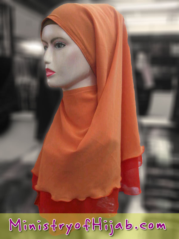Borong Selendang Chiffon | instant plain contrast 2 layer
