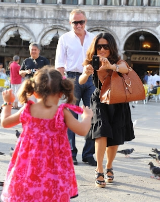 Salma Hayek in Venice with Valentina and Hubby Francios Henri Pinault