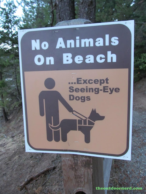 Outlet Campgrounds At Priest Lake, Idaho: No Animals On Beach