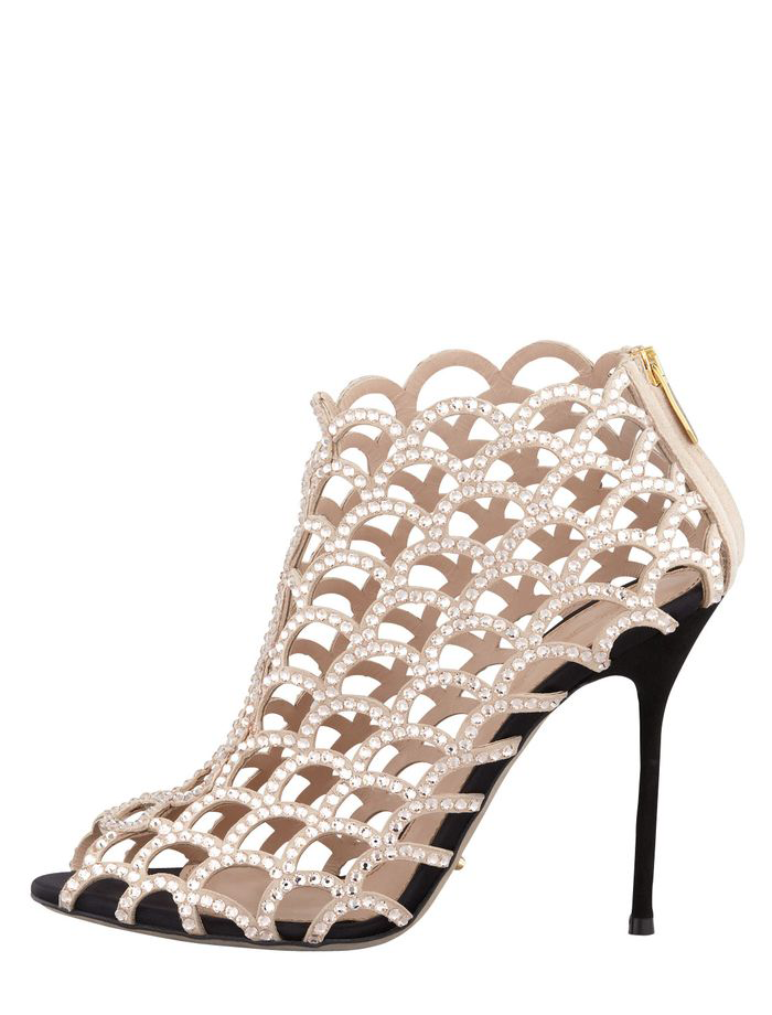 Stylish Caged Crystal Bootie