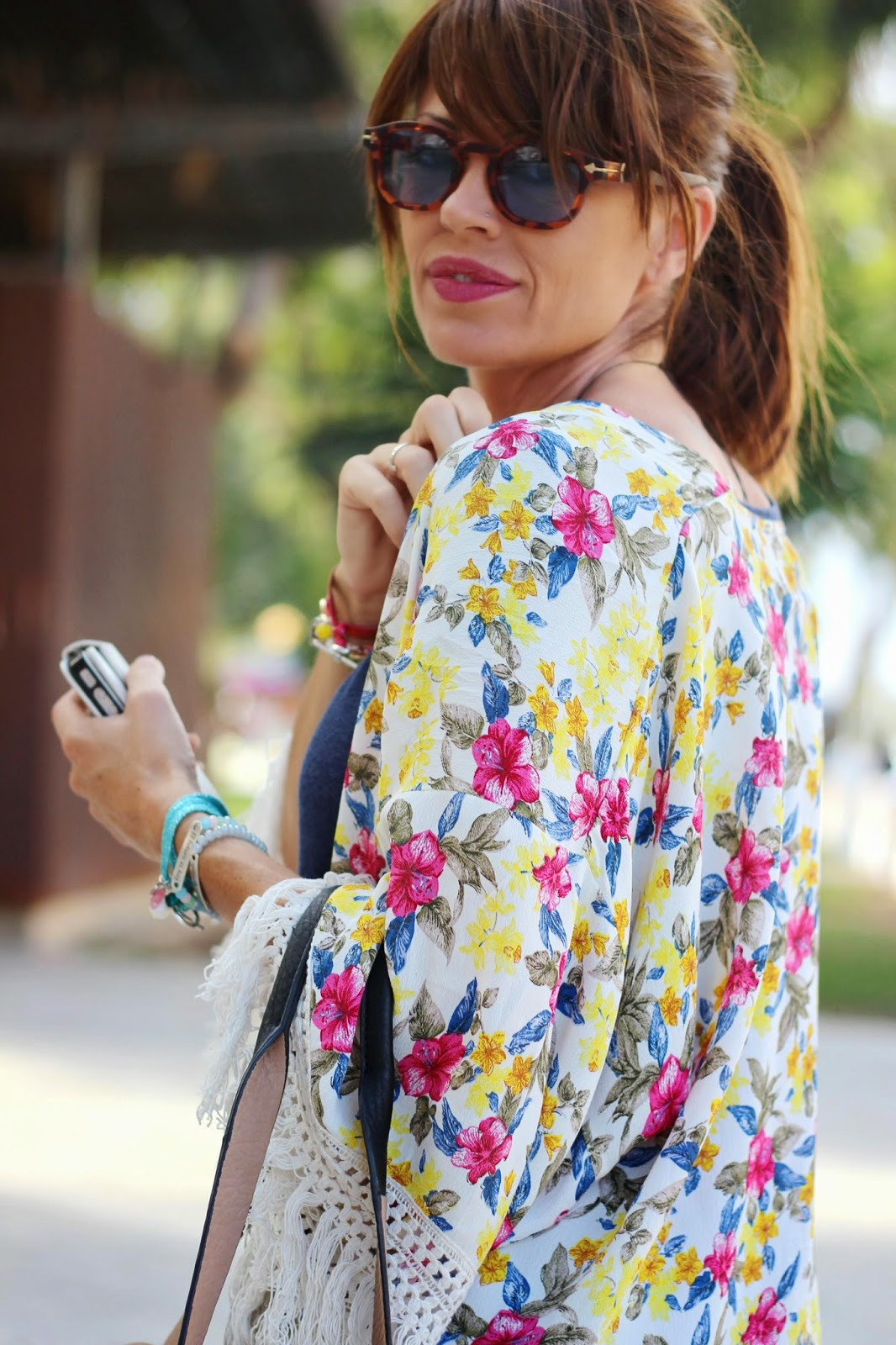 Kimono flores - Kimono Zara - Kimono flecos