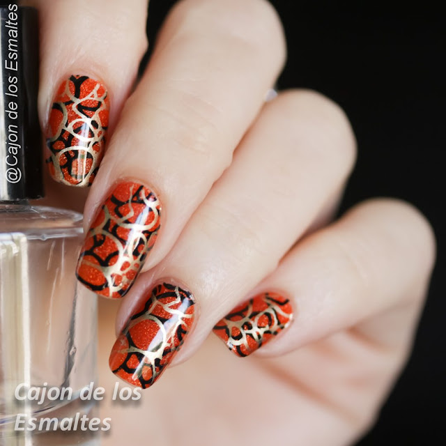 Estampado de uñas doble