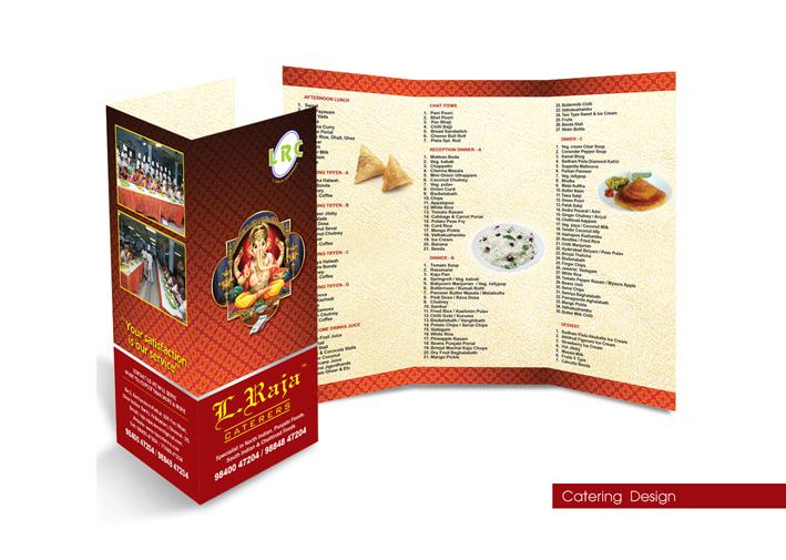Catering Menu Card Design | Ravindran