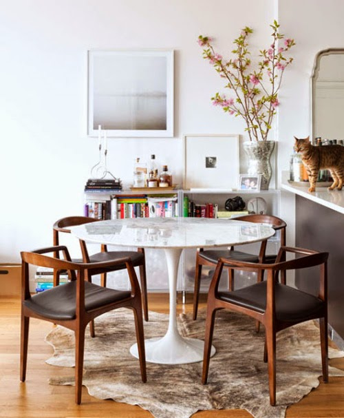 KP decor studio: Comedor con sillas danesas ** Danish chairs