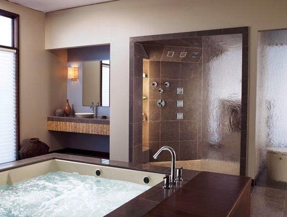 Baños Con Tina Fotos:Baño con tina hidromasaje ducha con shover door vidrio templado