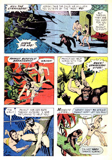 Korak Son of Tarzan v1 #1 gold key silver age 1960s comic book page art by Russ Manning