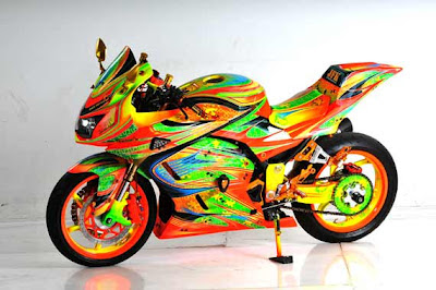 Ninja 250 airbrush modifikasi