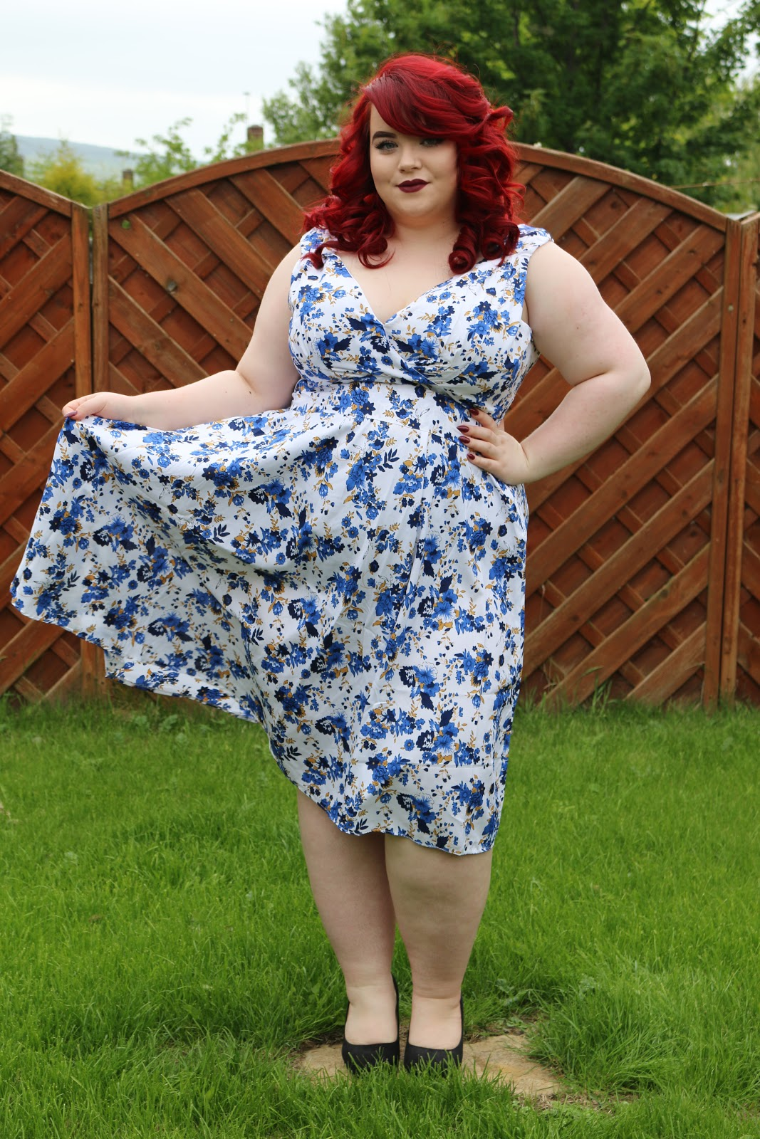 BBW Couture's Floral 1950s Vintage Party Dresses, shemightbeloved, georgina grogan