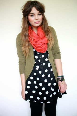 Polka Dots With Scarf