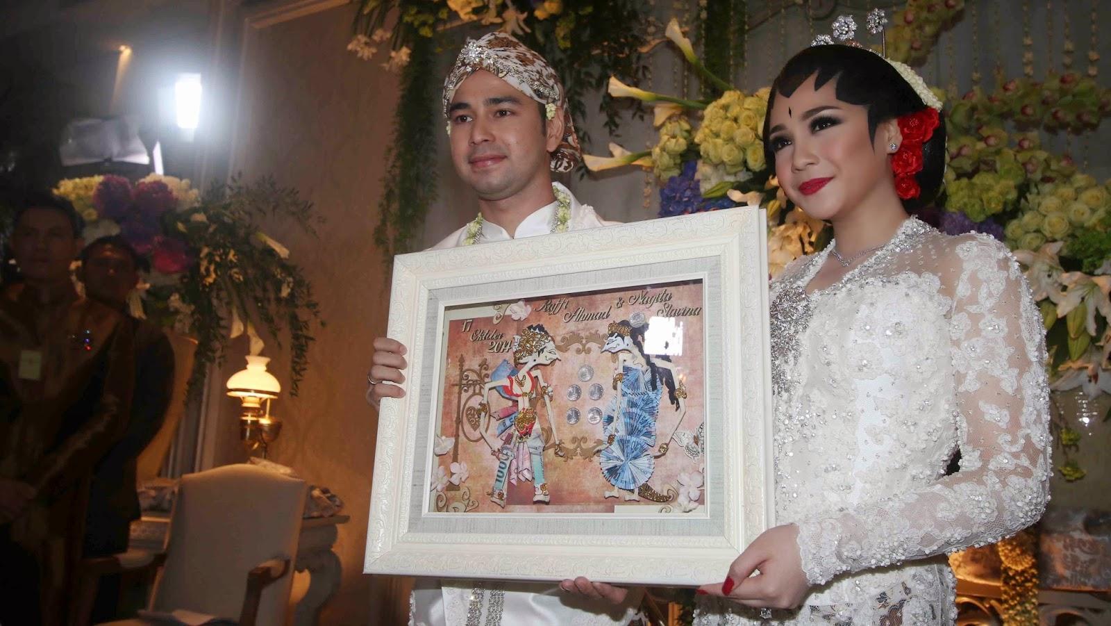 Gambar Foto resepsi pernikahan Raffi ahmad dan Nagita Slavina GIGI