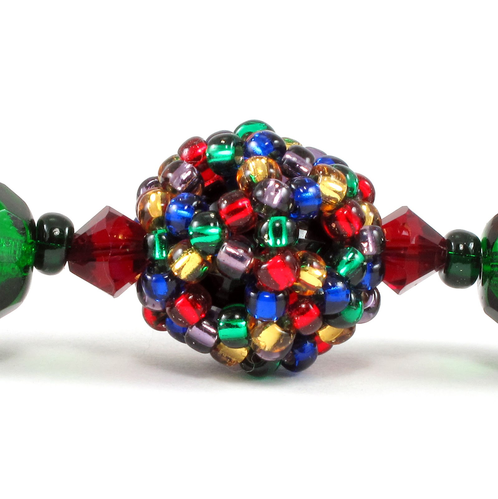 christmas tree green fire polished czech glass beads complement the colorful christmas light beaded beads