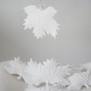 White leaves by Torie Jayne