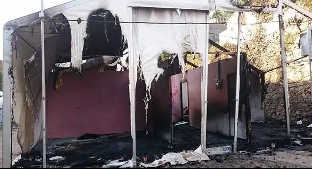 Χίος:Άγρια νύχτα στον καταυλισμό της Σούδας - λαθρο-Μετανάστες έκαψαν σκηνές, έσπασαν αυτοκίνητα και καταστήματα