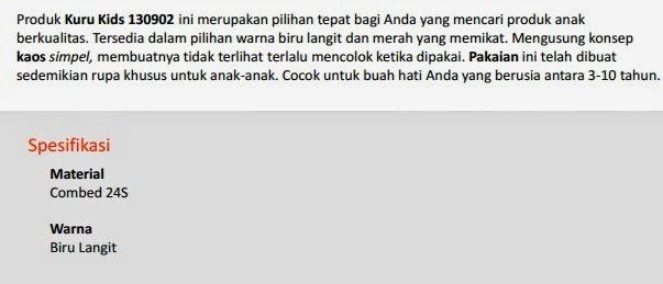 Jual Kaos Anak Kuru Kids 130902 Pekanbaru