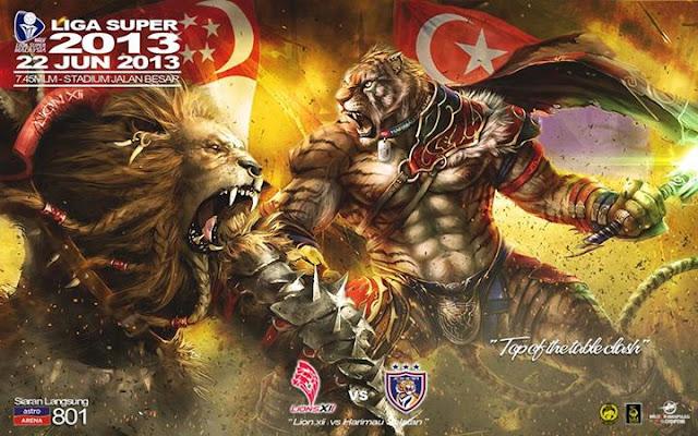 Live Streaming Lions XII vs Johor Darul Takzim JDT 22 Jun 2013 - Liga Super