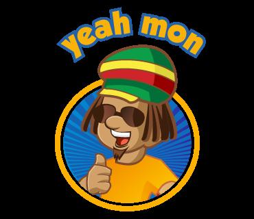 Reggae-emoji Jamaican patois stickers