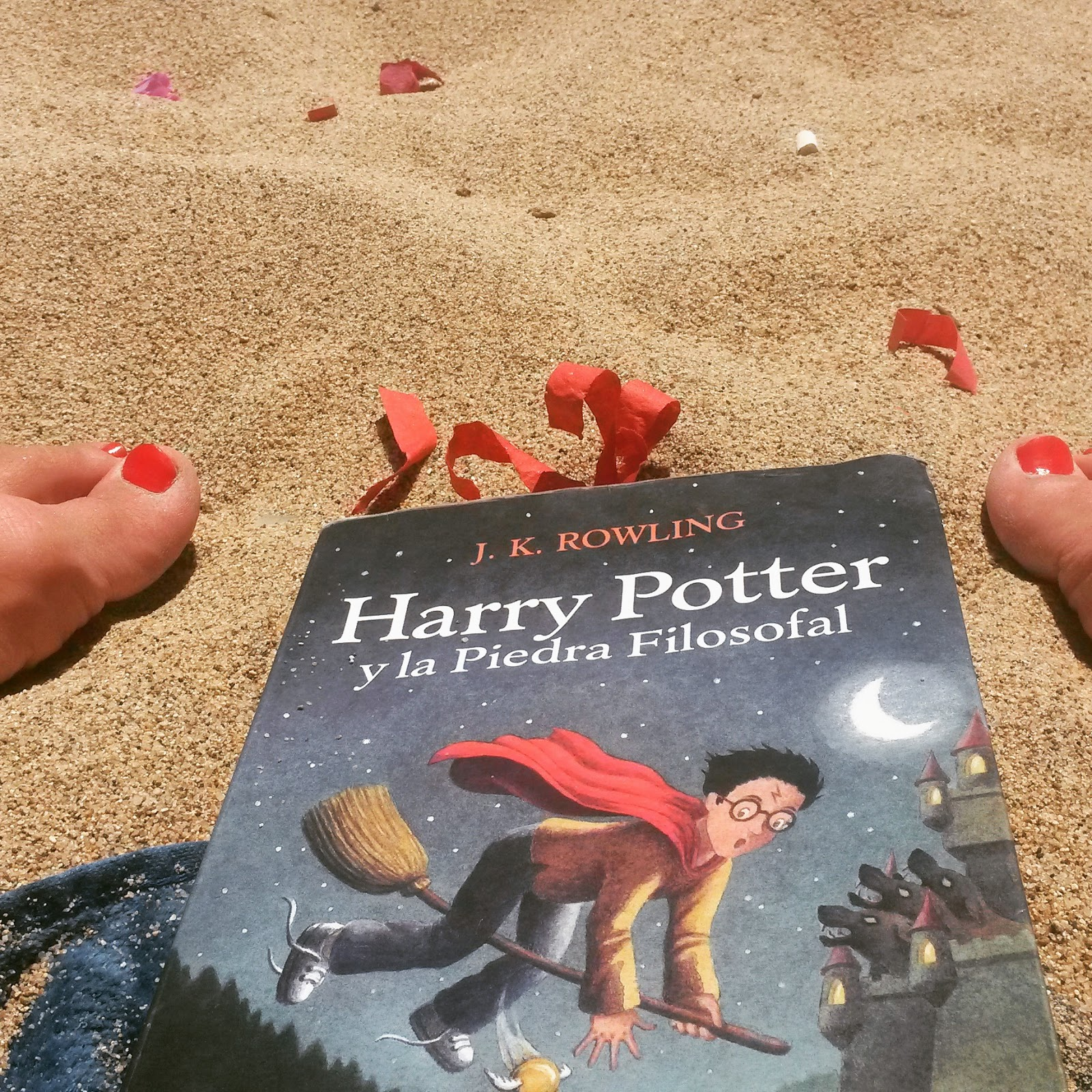 harry potter in spiaggia