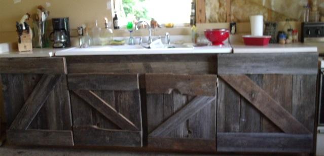 made that myself barn wood kitchen cabinets