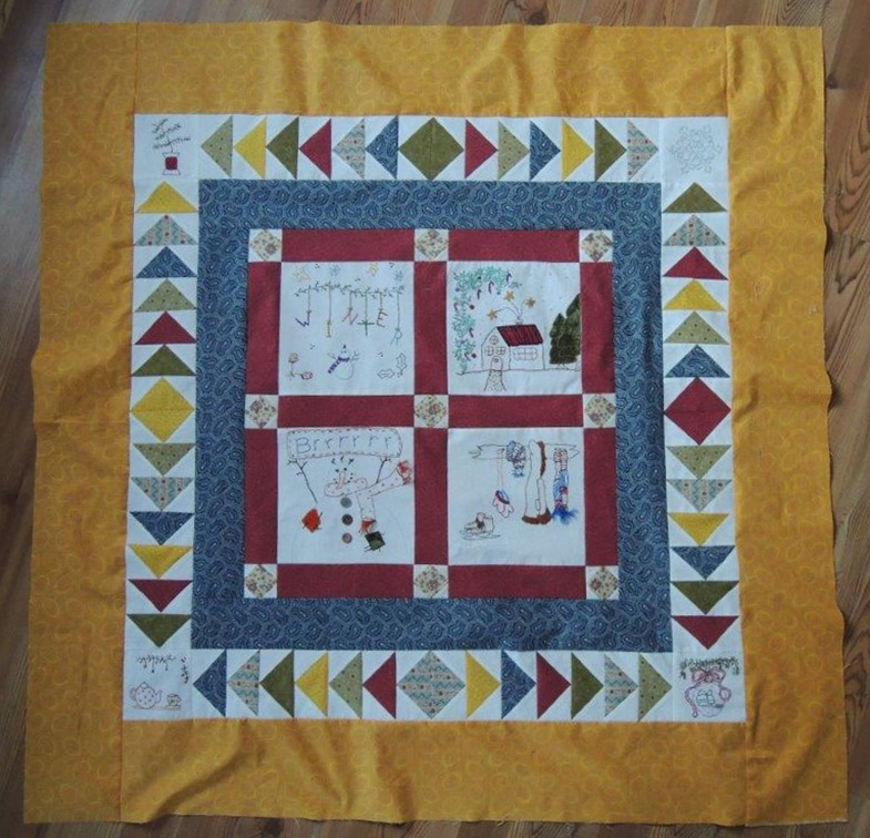 Feltfree p sly winter in blogland met nieuwe rand - Quilts gele ...