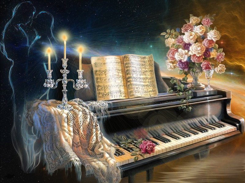 A glimpse of now fantasy piano - Cool piano backgrounds ...