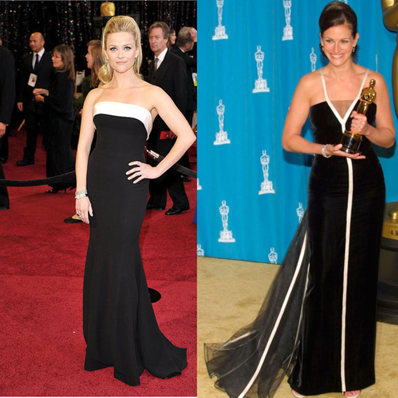like 2001 Oscar winner Julia Roberts. The two looks were so similar and