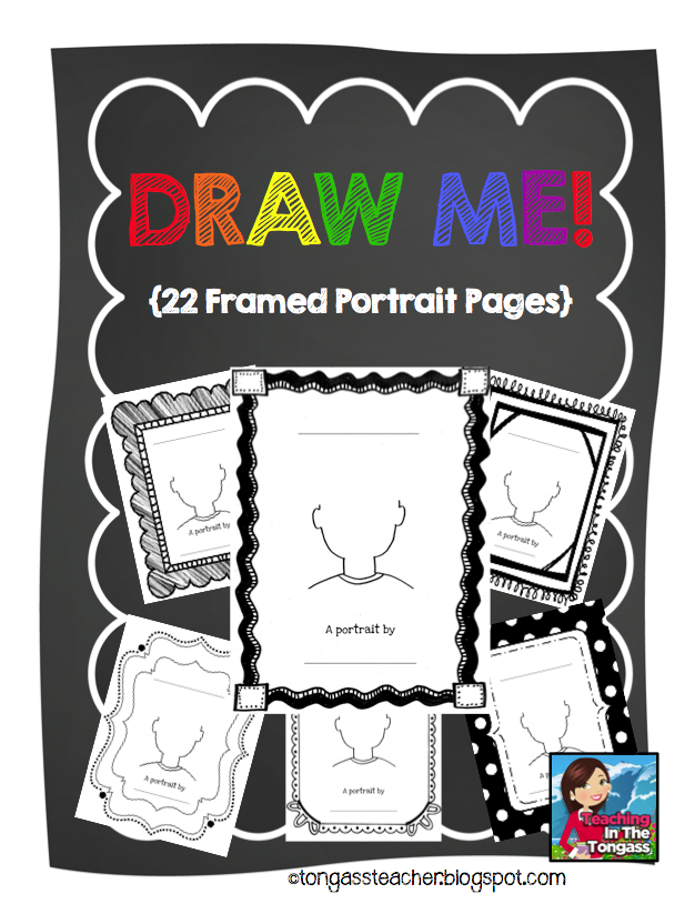 http://www.teacherspayteachers.com/Product/Draw-Me-Portrait-Frames-793734