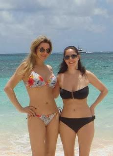 Gina Heisser Colorful Bikini Saint Martin Caribbean