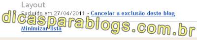 recuperar acesso ao blog