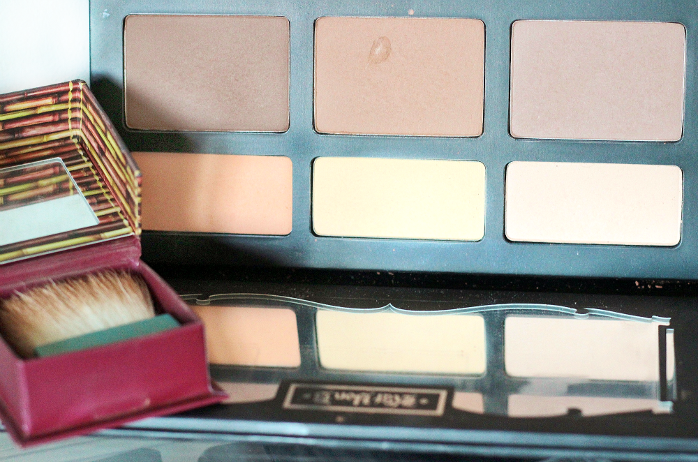 kat von d contour shade and light palette and benefit hoola bronzer