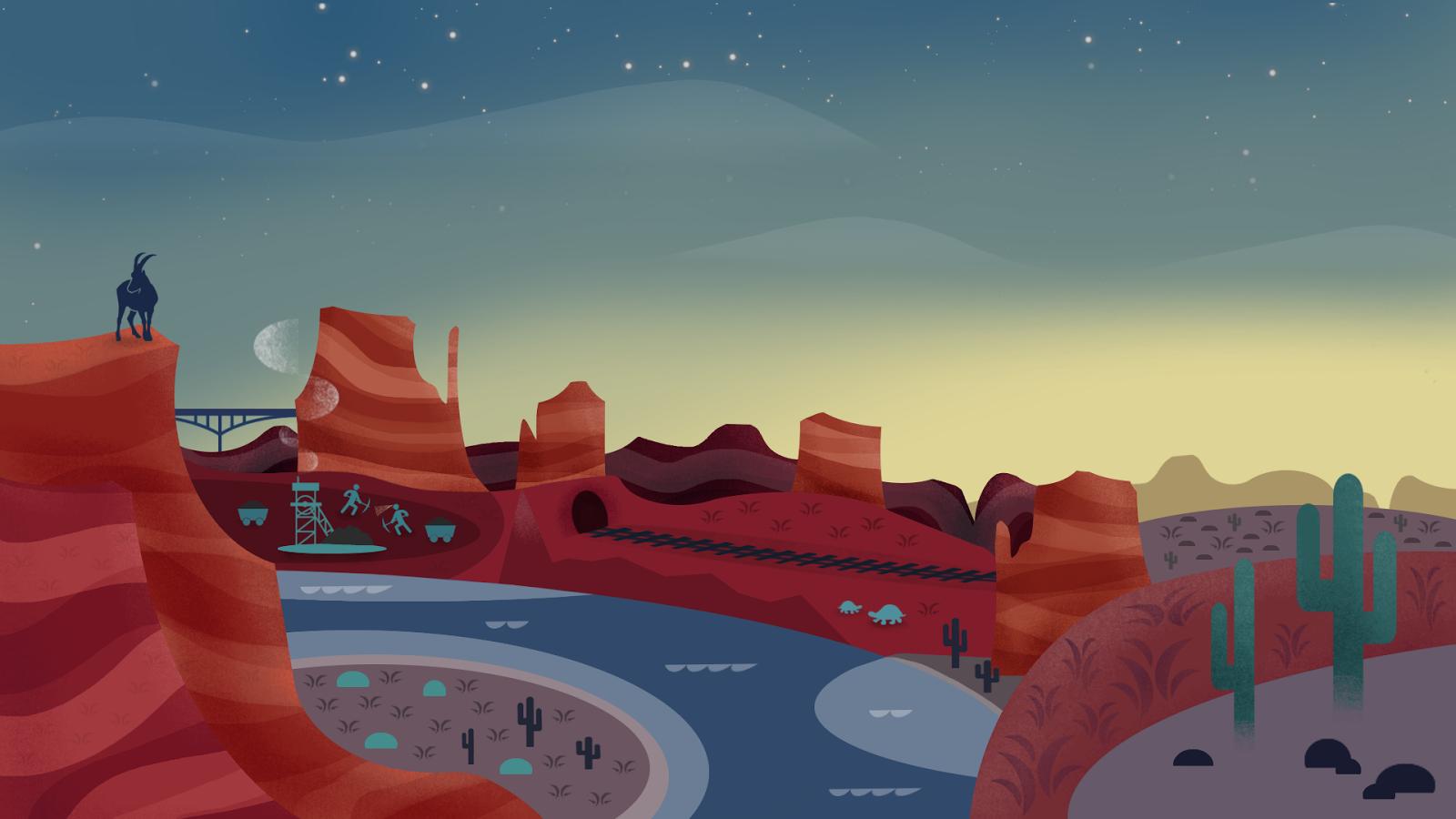 16 hình nền đẹp cho máy tính lấy cảm hứng từ thiết bị Android